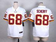 Mens Nfl Washington Redskins #68 Scherff White Game Jersey