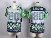 Mens Nfl Seattle Seahawks #80 Steve Largent Gray 2015 Noble Fashion Elite Jersey