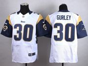 Mens   Los Angeles Rams #30 Todd Gurley White Elite Jersey
