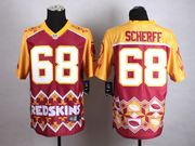 Mens Nfl Green Bay Packers #68 Scherff White&yellow&green 2015 Noble Fashion Elite Jersey