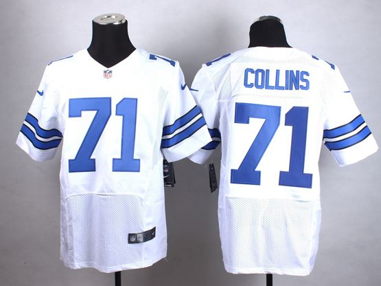 Mens Nfl Dallas Cowboys #71 Collins White Elite Jersey