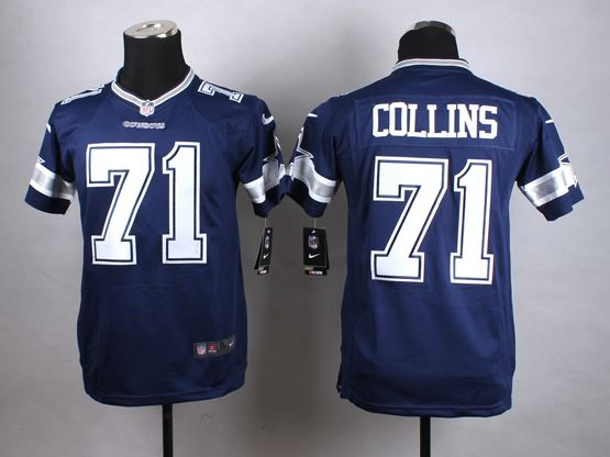 Mens Nfl Dallas Cowboys #71 Collins Blue Game Jersey