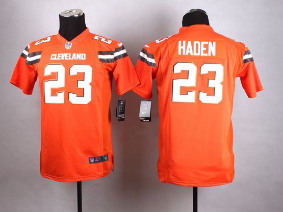 Mens Nfl Cleveland Browns #23 Haden Orange (2015 New) Game Jersey