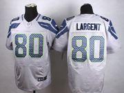 Mens Nfl Seattle Seahawks #80 Steve Largent Gray Elite Jersey