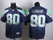 Mens Nfl Seattle Seahawks #80 Steve Largent Blue Elite Jersey