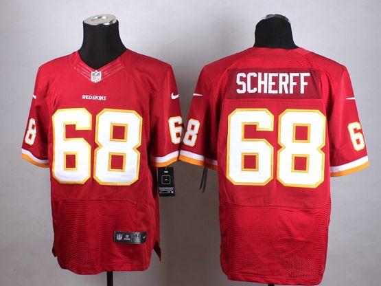 Mens Nfl Washington Redskins #68 Scherff Red Elite Jersey