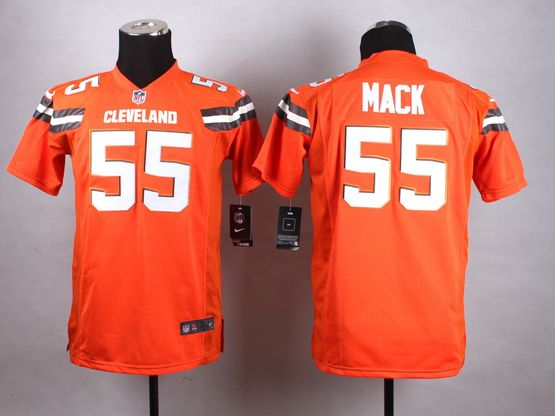 Mens Nfl Cleveland Browns #55 Mack Orange (2015 New) Game Jersey