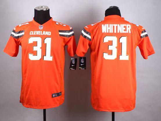 Mens Nfl Cleveland Browns #31 Whitner Orange (2015 New) Game Jersey