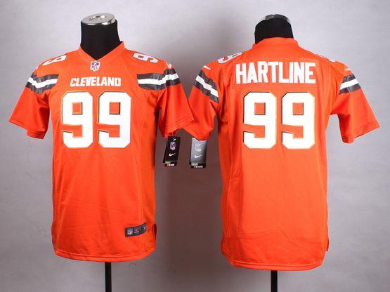 Mens Nfl Cleveland Browns #99 Hartline Orange (2015 New) Game Jersey