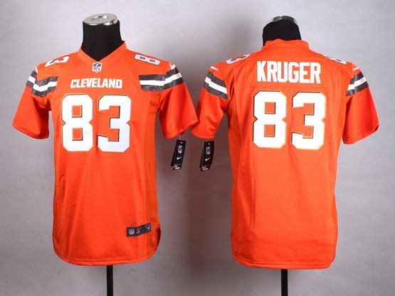 Mens Nfl Cleveland Browns #83 Kruger Orange (2015 New) Game Jersey