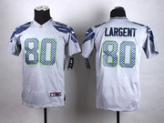 Mens Nfl Seattle Seahawks #80 Steve Largent Gray Game Jersey