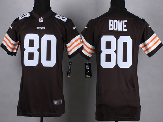 Mens Nfl Cleveland Browns #80 Bowe Brown Game Jersey