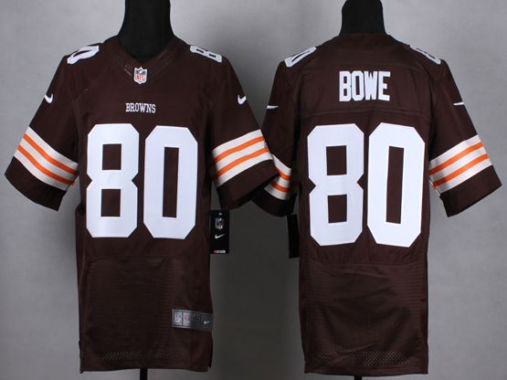 Mens Nfl Cleveland Browns #80 Bown Brown Elite Jersey