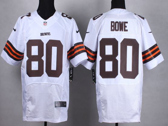 Mens Nfl Cleveland Browns #80 Bown White Elite Jersey