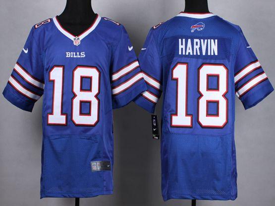 Mens Nfl Buffalo Bills #18 Percy Harvin Blue Elite Jersey