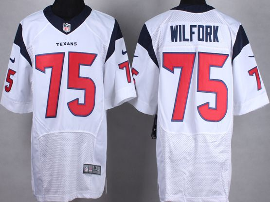 Mens Nfl Houston Texans #75 Wifork White Elite Jersey