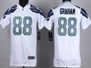 Youth Nfl Seattle Seahawks #88 Graham White Game Jersey