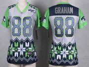 Women  Nfl Seattle Seahawks #88 Graham Gray 2015 Noble Fashion Elite Jersey