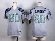 Women  Nfl Seattle Seahawks #80 Steve Largent Gray Game Jersey