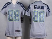 Women  Nfl Seattle Seahawks #88 Graham Gray Game Jersey