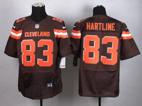 Mens Nfl Cleveland Browns #83 Hartline Brown (2015 New) Elite Jersey