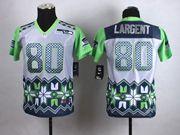 Women  Nfl Seattle Seahawks #80 Steve Largent Gray 2015 Noble Fashion Elite Jersey