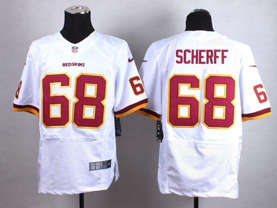 Women  Nfl Washington Redskins #68 Scherff White Elite Jersey