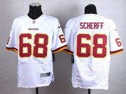 Mens Nfl Washington Redskins #68 Scherff White Elite Jersey