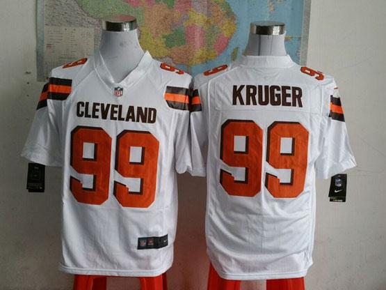 Mens Nfl Cleveland Browns #99 Kruger White (2015 New) Elite Jersey
