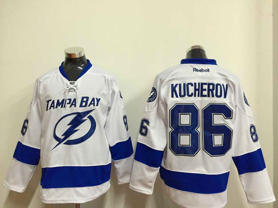 Mens reebok nhl tampa bay lightning #86 kucherov white Jersey