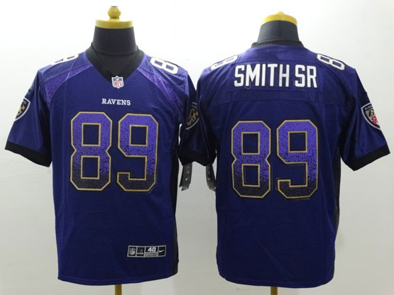 Mens Nfl Baltimore Ravens #89 Steve Smith Sr Sr Drift Fashion Purple Elite Jersey