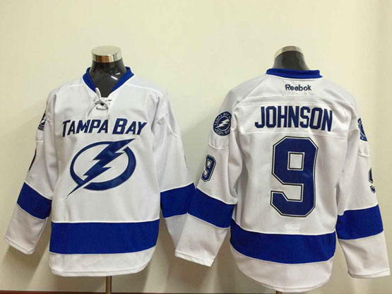 Mens reebok nhl tampa bay lightning #9 johnson white Jersey