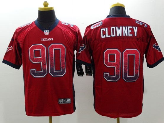 Mens Nfl Houston Texans #90 Clowney Drift Fashion Red Elite Jersey