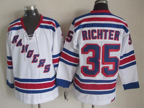 Mens reebok nhl new york rangers #35 richter white Jersey