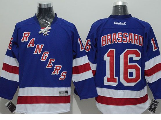 Mens reebok nhl new york rangers #16 brassard light blue Jersey