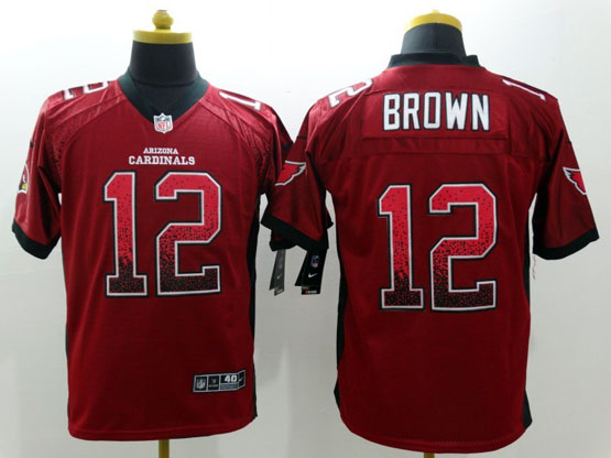 Mens Nfl Arizona Cardinals #12 Brown Drift Fashion Red Elite Jersey
