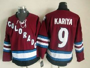 Mens nhl colorado avalanche #9 kariya red throwbacks Jersey