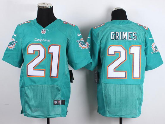 Mens Nfl Miami Dolphins #21 Grimes Green Elite Jersey