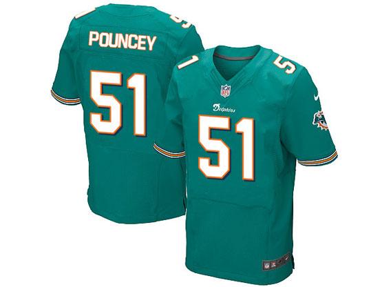 Mens Nfl Miami Dolphins #51 Pouncey Green Elite Jersey