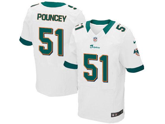 Mens Nfl Miami Dolphins #51 Pouncey Whte Elite Jersey