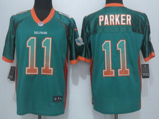 Mens Nfl Miami Dolphins #11 Parker Drift Fashion Green Elite Jersey