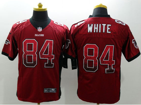 Mens Nfl Atlanta Falcons #84 White Drift Fashion Red Elite Jersey