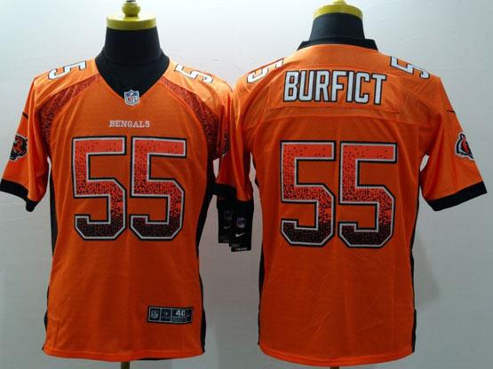 Mens Nfl Cincinnati Bengals #55 Burfict Drift Fashion Orange Elite Jersey