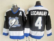 Mens nhl tampa bay lightning #4 lecavalier black throwbacks (2015 new) Jersey