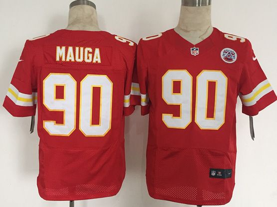 Mens Nfl Kansas City Chiefs #90 Mauga Red Elite Jersey