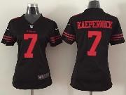 women  nfl San Francisco 49ers #7 Colin Kaepernick black game jersey