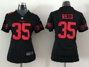 Women  Nfl San Francisco 49ers #35 Reid Black Game Jersey