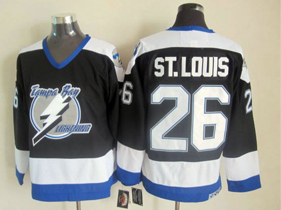 Mens nhl tampa bay lightning #26 st.louis black throwbacks (2015 new) Jersey