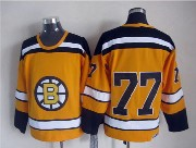 Mens nhl boston bruins #77 bourque (no name) yellow throwbacks Jersey