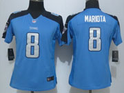 Women  Nfl Tennessee Titans #8 Mariota Light Blue Limited Jersey